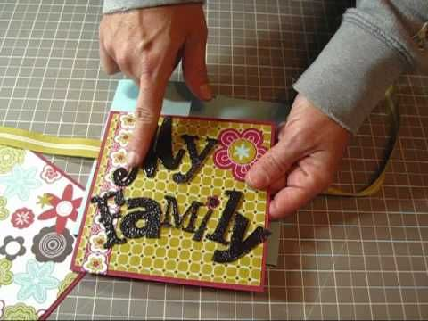 Flip Book Mini Scrapbook Album - a very simple album, and the measurements can be adjusted to smaller sizes