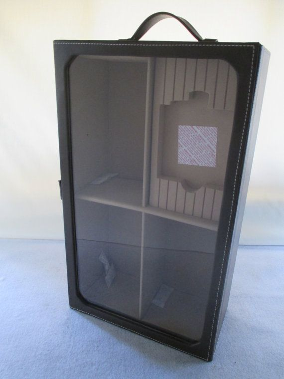 Travel Humidor Vertical Display Case Storage 4 by HobbitHouse