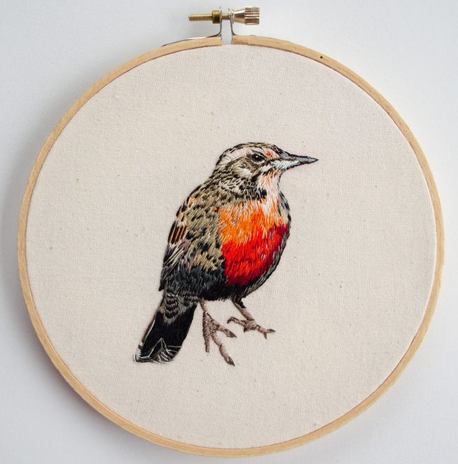 Loica (hand embroidery)