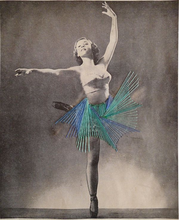 Old photos of dancers are beautiful on their own, but transformed with simple embroidery thread by Chilean artist Jose Romussi