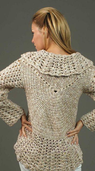 Free Crochet Pattern For Sweater Vest : 213 best images about Crochet- Boleros,Vests,Tunics,Tops ...