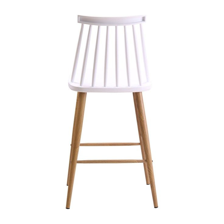 Buy Modern Bar Stools Online or Visit Our Showrooms To Get Inspired With The Latest Bar Stools From Life Interiors - Olivia Spindle Counter Stool (Oak, White)