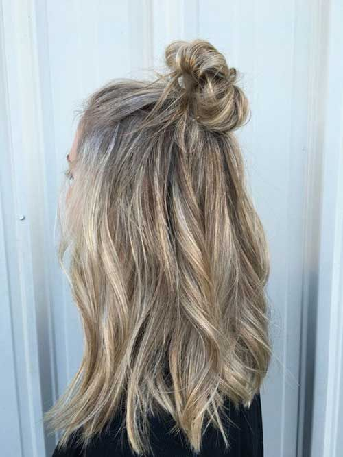14.Long Hair Bun