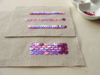 Sample sequin embroidery. I never - EVER - thought to mermaid my sequins! Such a fabulous idea!