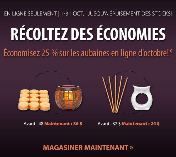Récoltez des économies en octobre