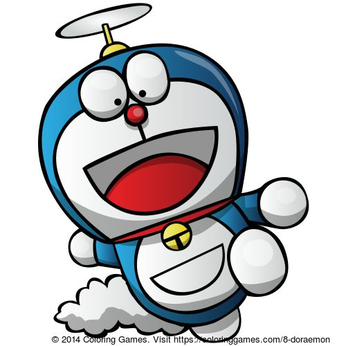 Doraemon Coloring Book Games Page Game For