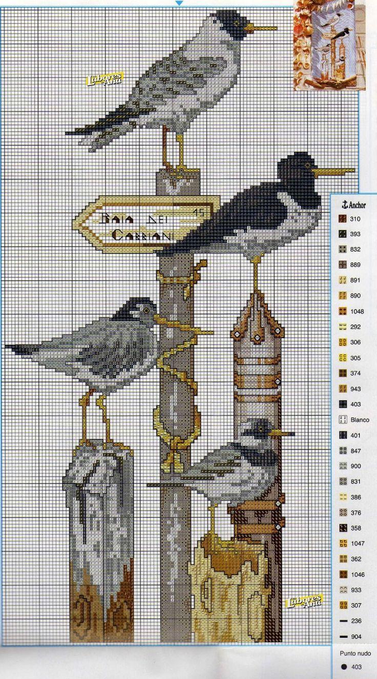 seagulls on pillars 2/3