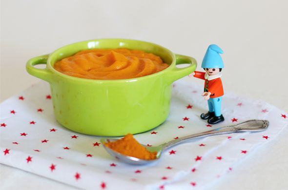 Recette bébé au Nutribaby de Babymoov : Purée de carotte et patate douce au curcuma