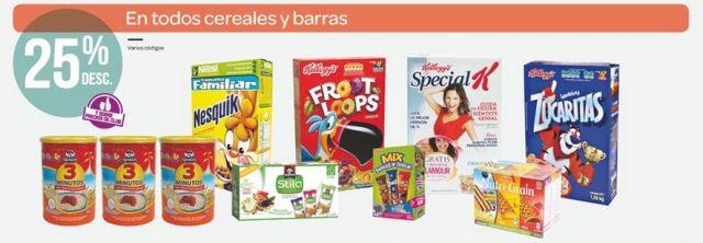 Ofertas Buen Fin: 25% de descuento en todos los Cereales y Barras, en City Club. Buen Fin, del 14 al 17 noviembre de 2014. #Promo #BuenFin