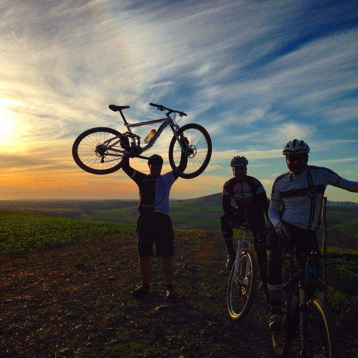 At the top of the climb... Beautiful sunset