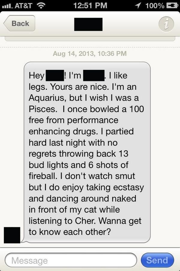 People tell you too much about themselves. | 18 People Who Have Really Nailed This Tinder Conversation Thing