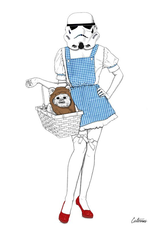 Storm Trooper Dorothy and Ewok Toto - The Wizard of Oz and Star Wars