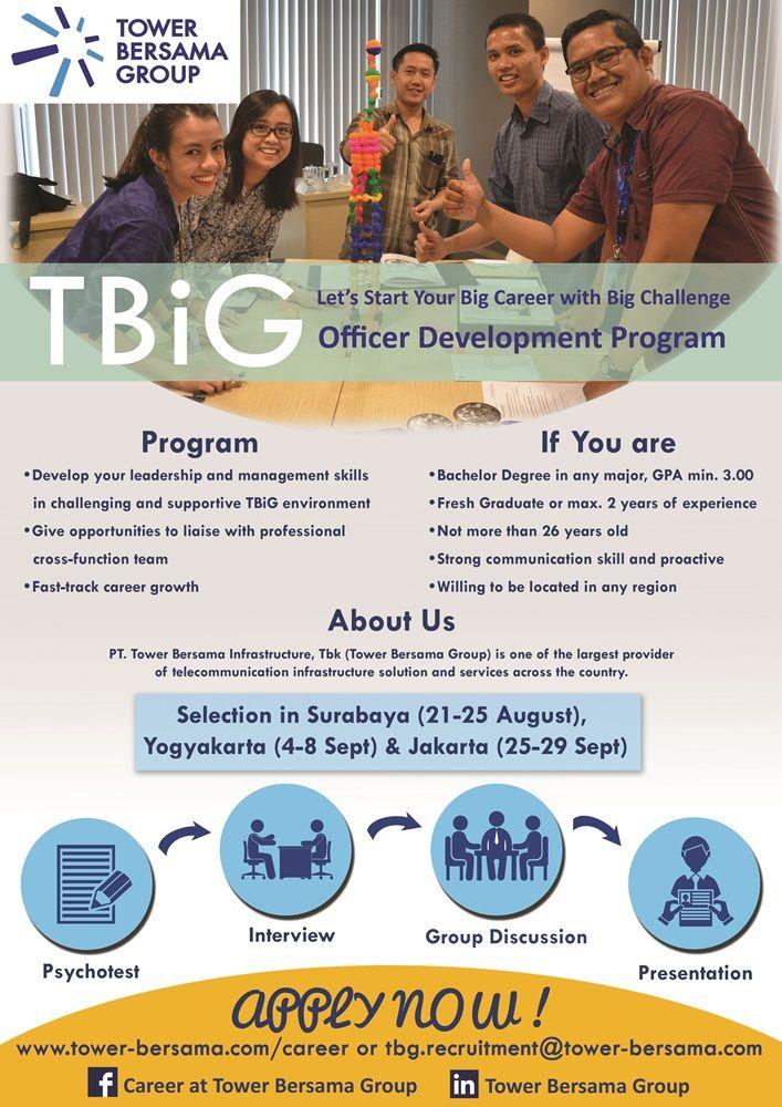 JOIN!  Tower Bersama Infrastructure #vacancy as Officer Development Program for Bachelor Degree >> http://bit.ly/2vI568X   DEADLINE: 14 September 2017 #itbcc #karirITB #ITBcareer