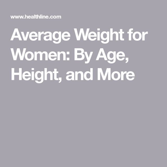 Average Weight for Women: By Age, Height, and More