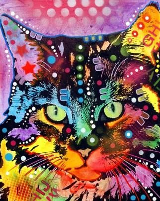 Image Detail For   Maine Coon Cat Painting By Dean Russo   Maine Coon Cat  Fine
