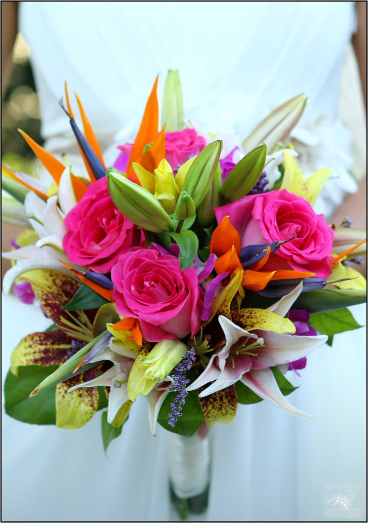 Colorful Wedding Bouquet Photo By Mario Nixon Photography www.marionixon.com