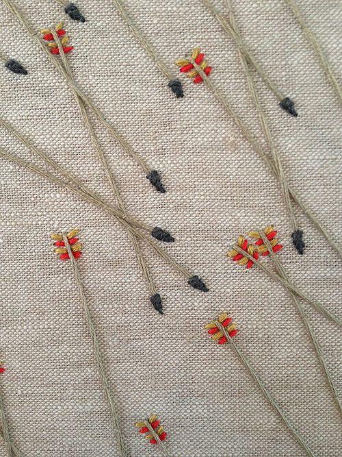Embroidery by artist Morgan Watt