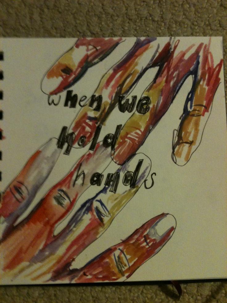 Watercolour hand