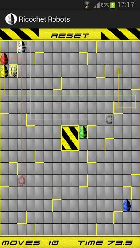 Ricochet Robots<p>A puzzle game for one up to infinity players! Bored of Sudoku, Chess, Blocks and all the likes? Try Ricochet Robots! A new challenge with every level! Can you find the shortest paths?<p>The game can be played in single player mode or in multiplayer mode, where you and your friends can play around your Android device just as you would on a board game. <p>App is suitable for phones and tablets. <p>Enjoy!<p>Please feel free to give me any kind of feedback via email – <a…