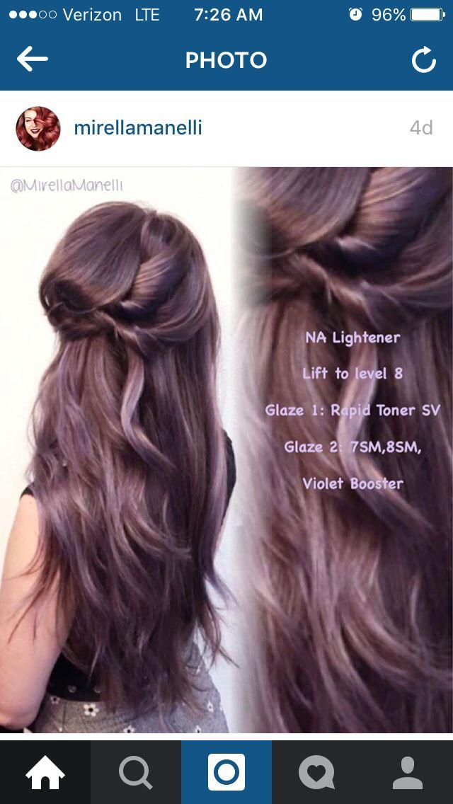 Best 25 Violet Brown Hair Ideas On Pinterest Purple