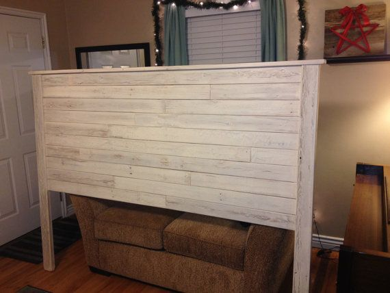 Rustic Twin Bed Frame Handmade Reclaimed wood King Headboard. Cream by ...