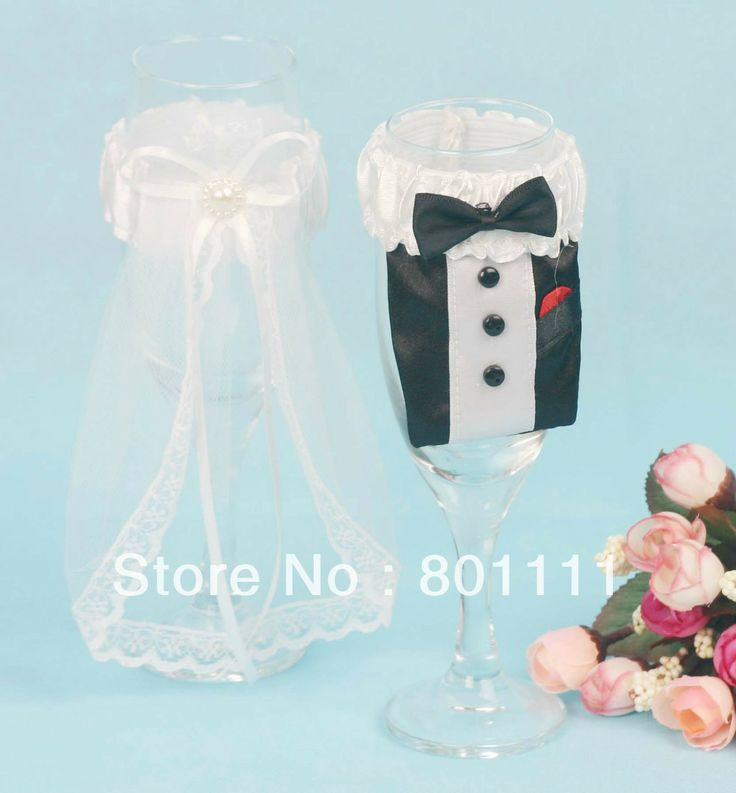 Aliexpress.com : Buy 2013 New Arrival Free Shipping GownTuxedo Toasting Flutes from Reliable wedding glass suppliers on Personalized Wedding Favor  FEIS INTL GROUP $11.99