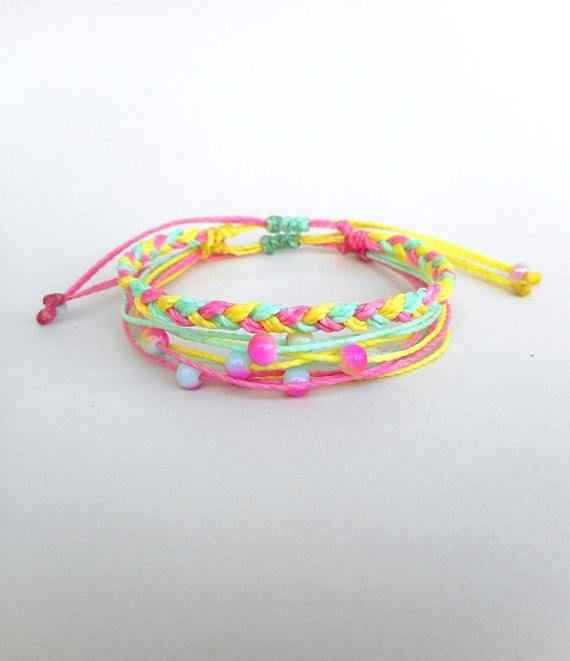 Pastel bracelet set Kawaii bracelet set Stacking bracelet