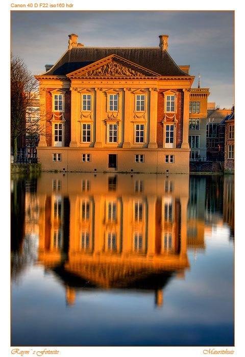 "Het Mauritshuis, The Hague, Netherlands - The Royal Picture Gallery Mauritshuis (English: ""Maurice House"") is an art museum in The Hague, the Netherlands. Previously the residence of count John Maurice of Nassau, it now has a large art collection, including paintings by Dutch painters such as Johannes Vermeer, Rembrandt van Rijn, Jan Steen, Paulus Potter and Frans Hals and works of the German painter Hans Holbein the Younger."