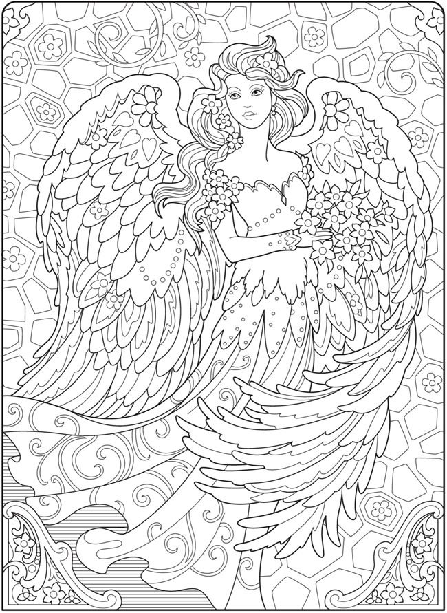 coloring book pages angels - photo#32