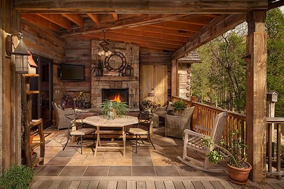 Cabin Porch Jai Designed Outdoor Spaces In 2019 Cabin