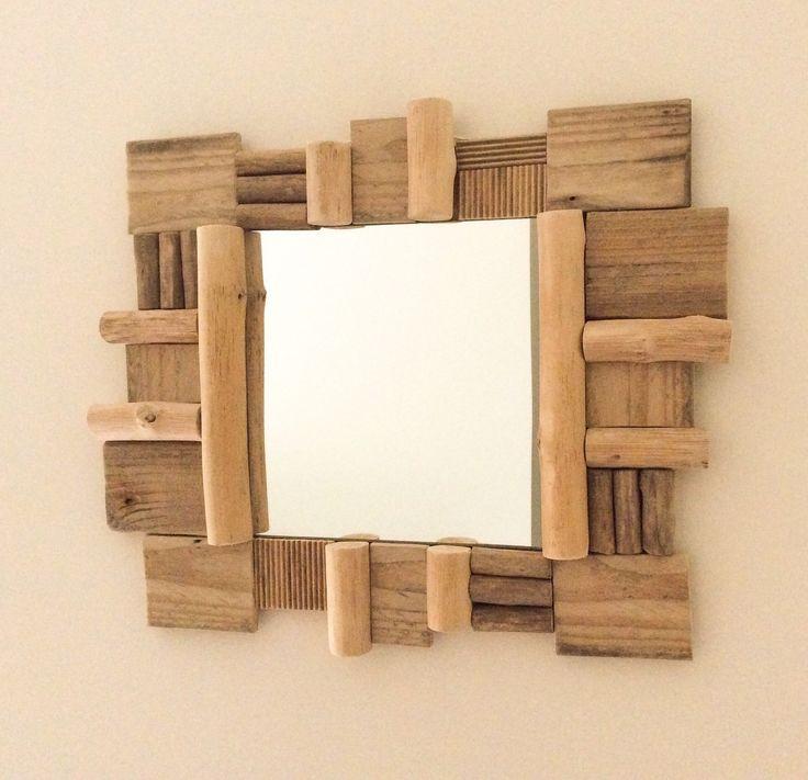17 meilleures id es propos de miroir en bois flott sur for Encadrement de miroir en bois