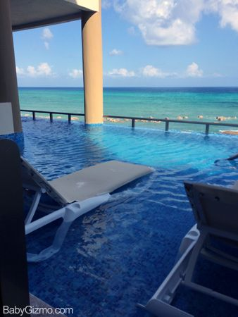 This is a room on the 3rd floor with an infinity pool swim ...