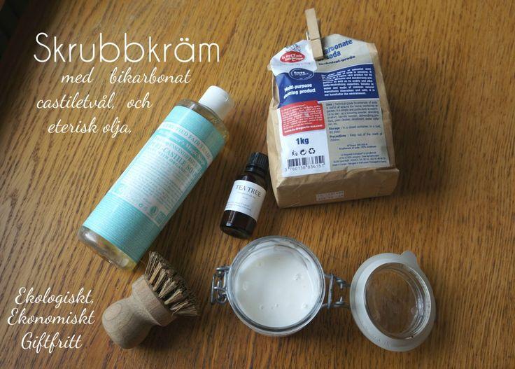 Hemgjord skrubbkräm med castiletvål och bikarbonat