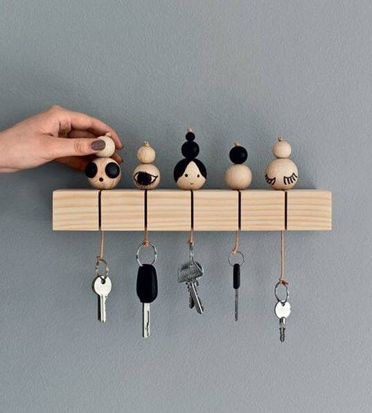 DIY: key holder | sleutelhanger