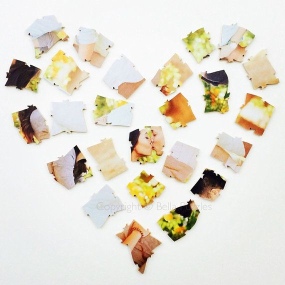 Custom 20-100 piece PHOTO Puzzle Wedding Guest Book Alternative by BELLA PUZZLES. Bella Puzzles™ guest books have been seen in MARTHA STEWART