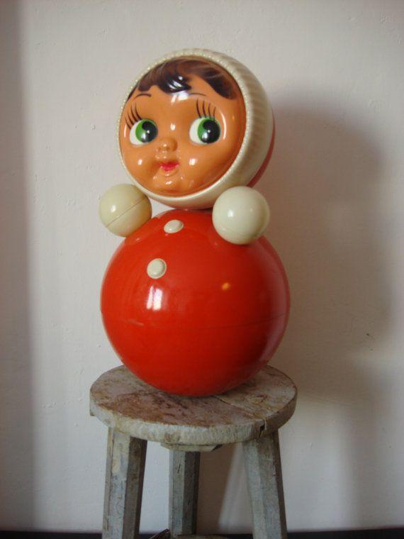 Vintage Roly Poly Doll Nevalyashka XXL Size by OldMoscowVintage, $62.00
