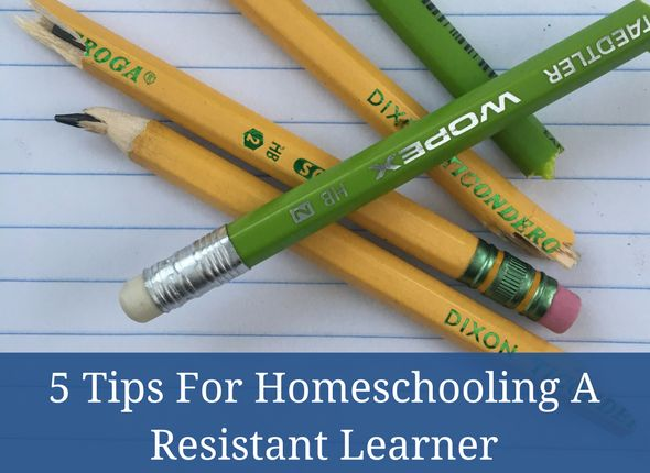 5 Tips For Homeschooling A Resistant Learner #autism #asd