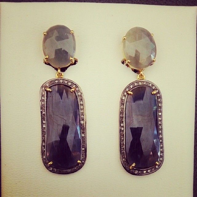 "@estgir's photo: ""#animabarcelona #animajoyas #jewellsshop #shoponline #earrings #diamonds #aguamarina #design #saphire#zafiro"""