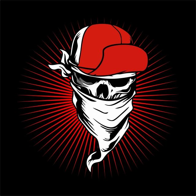 Skull Wearing Cap And Bandana Vector Hand Drawing Shirt Designs Biker Disk Jockey Png And Vector With Transparent Background For Free Download How To Draw Hands Paint Vector Retro Signs Vintage