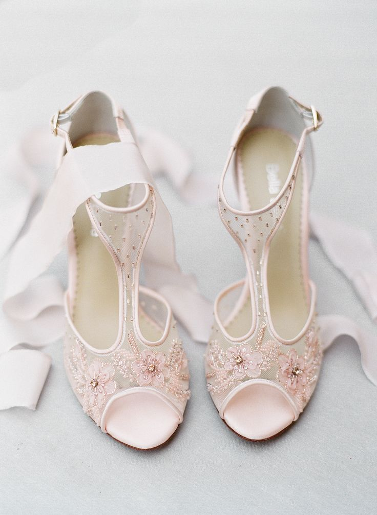 Pink embellished stilettos: Stunning Color Palette Inspiration for the Fall Bride - http://www.stylemepretty.com/2016/09/26/fall-tuscany-bridal-inspiration/