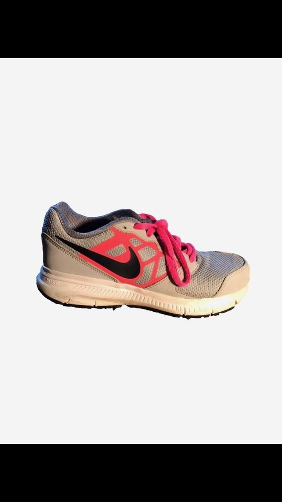 581180470a51 NIKE DOWNSHIFTER 6 Girls Youth Gray Black Pink Athletic Shoes Size ...