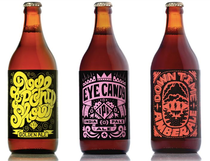 Hand styled illustrative alcohol covers