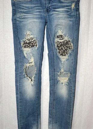 Kup mój przedmiot na #vintedpl http://www.vinted.pl/damska-odziez/dzinsy/10594986-spodnie-rurki-jeansy-przetarcia-dziury-s-36