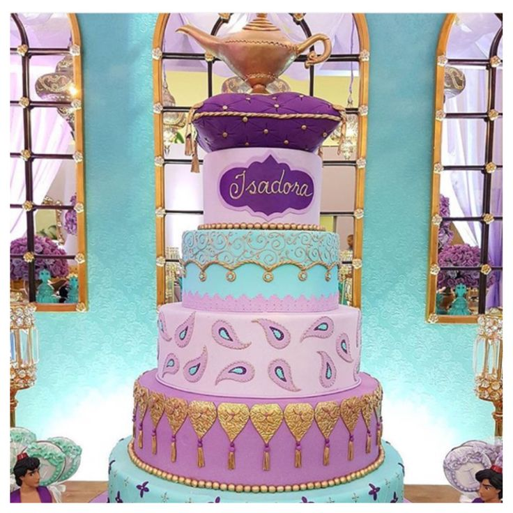 Disney cake, Alladin Princess Jasmine                                                                                                                                                                                 More
