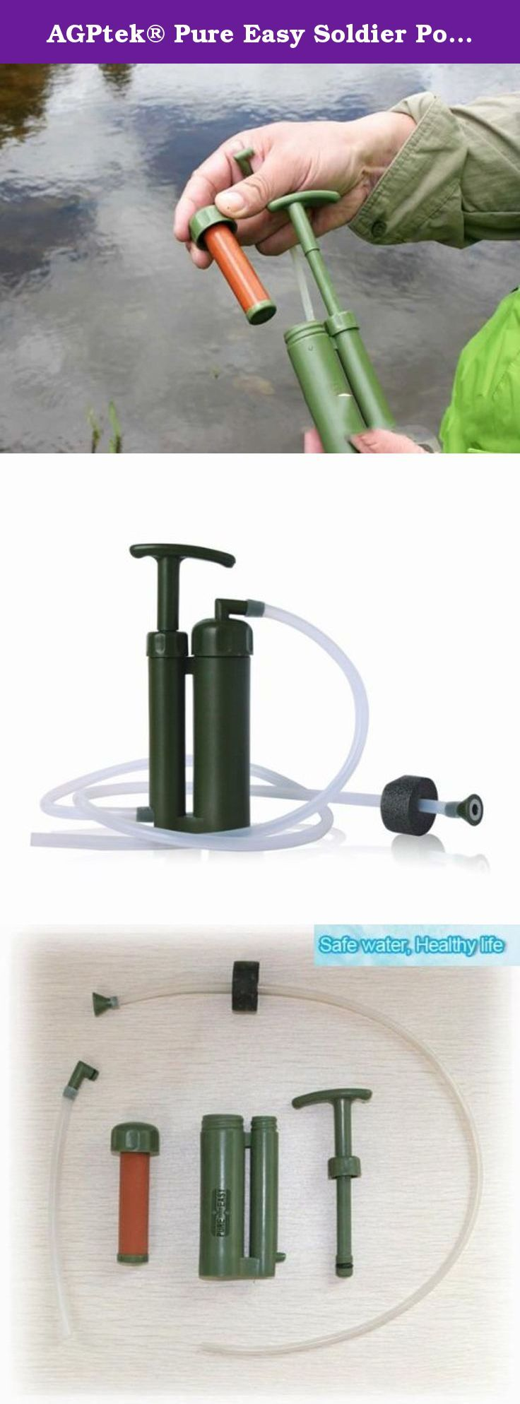 AGPtek® Pure Easy Soldier Portable Mini Water Filter Purifier For Safe Water and Healthy Life (0.1 micron ceramic). This fliter could truns turbid water from rain, lake, river and other natural water into direct drinkable water immediately as it could remove the bacteria in water entirely.. A perfect choice for soldiers, Hiking, Fishing, Hunting, Outdoor Work, Camping, Survival, Military, Foreign Travel, exploration Insurance, climbing, refugee and rescuer in Emergency or natural…