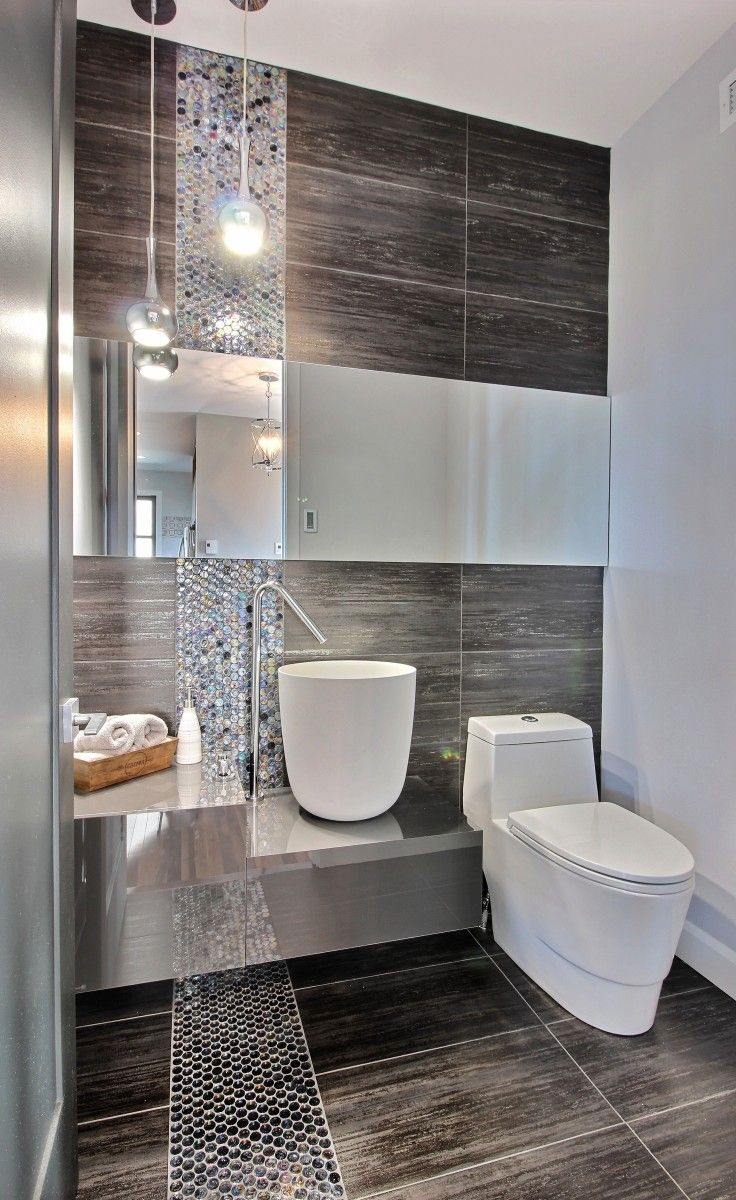 25 best ideas about contemporary bathrooms on pinterest for Small toilet and bath design