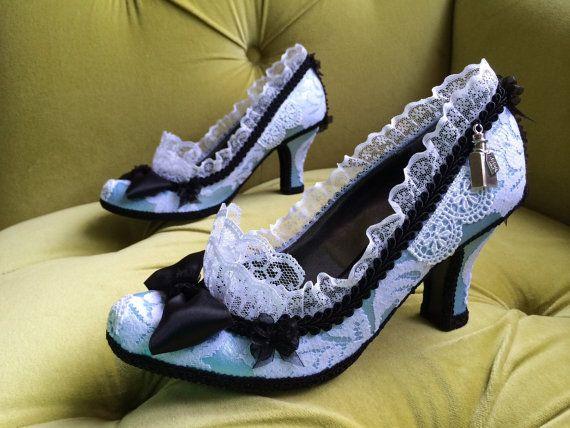 Alice In Wonderland ispirato Costume scarpe tacchi a spillo
