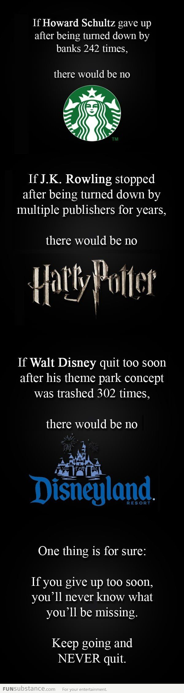 """This is why I hate the quote: """"the definition of insanity is doing the same thing over and over again, expecting different results""""    I therefore celebrate the insane, and thank them for my Latte, Hogwarts, and Space Mountain...and I wish to join their exclusive club someday, sooner than later...!"""