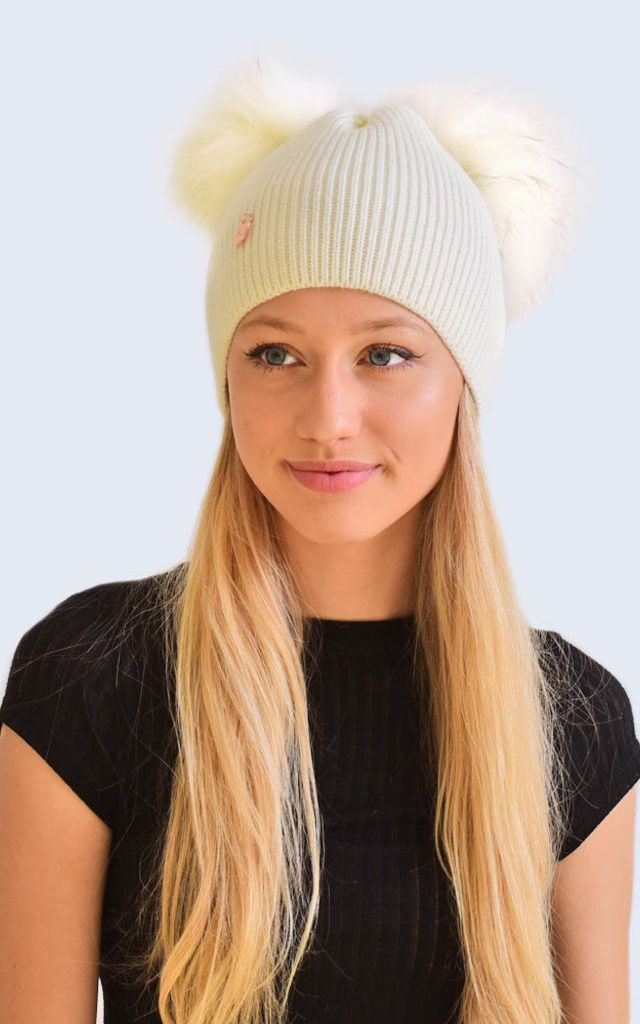 New for AW 16/17 we have designed the ultimate addition to your pom pom hat collection. These Double pom pom hats are the perfect stylish fashion accessory for the colder weather.