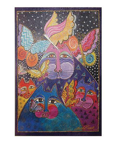 Look what I found on #zulily! Felines & Flutterbyes Glitter Canvas #zulilyfinds